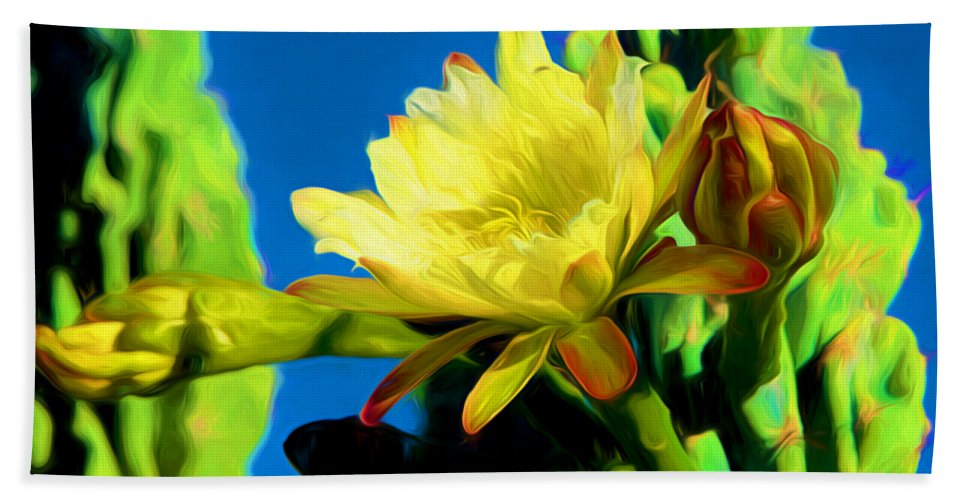 Cactus Bath Sheet featuring the photograph Desert Beauty by Barbara Zahno