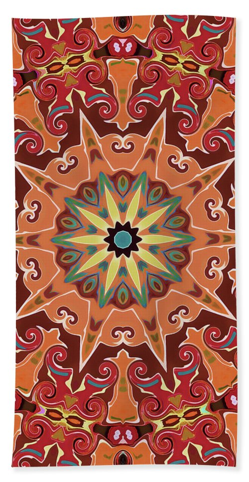 Mandala Art Hand Towel featuring the painting Desire by Jeelan Clark