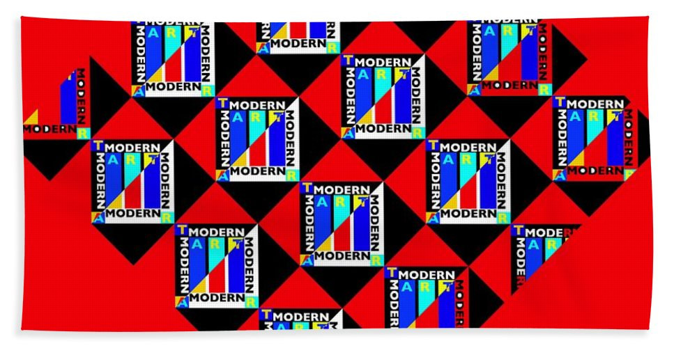 Primary Colors Hand Towel featuring the painting Diamond Red by Charles Stuart