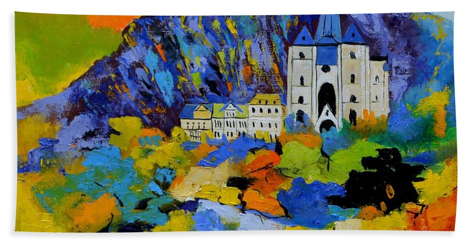Landscape Hand Towel featuring the painting Dinant by Pol Ledent