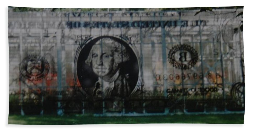 Park Hand Towel featuring the photograph Dollar Bill by Rob Hans