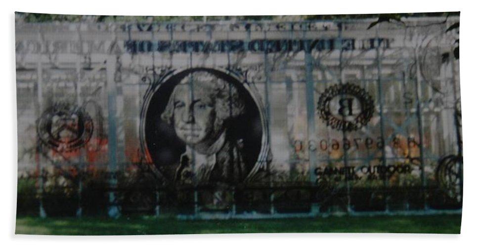 Park Bath Towel featuring the photograph Dollar Bill by Rob Hans