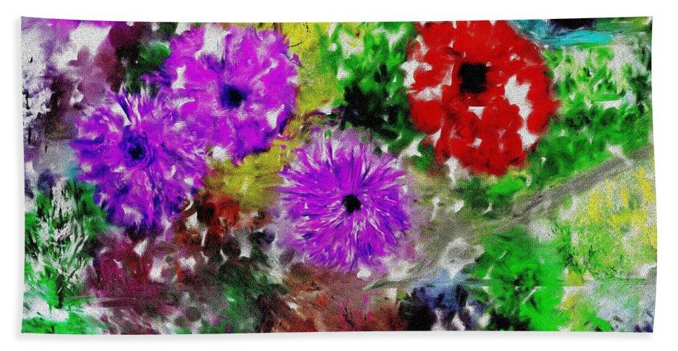 Landscape Hand Towel featuring the digital art Dream Garden II by David Lane