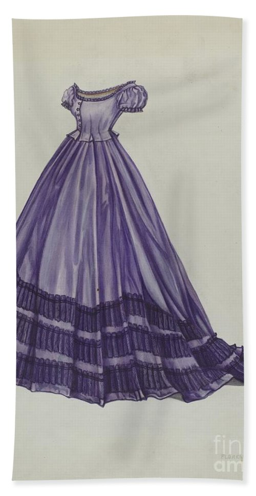 Hand Towel featuring the drawing Dress by Florence Earl