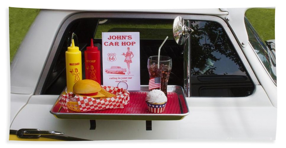 Car Bath Sheet featuring the photograph Drive-in by Doc Braham