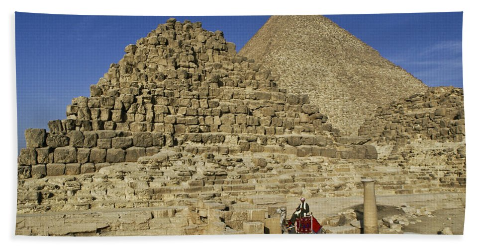 Egypt Hand Towel featuring the photograph Egypt's Pyramids Of Giza by Michele Burgess