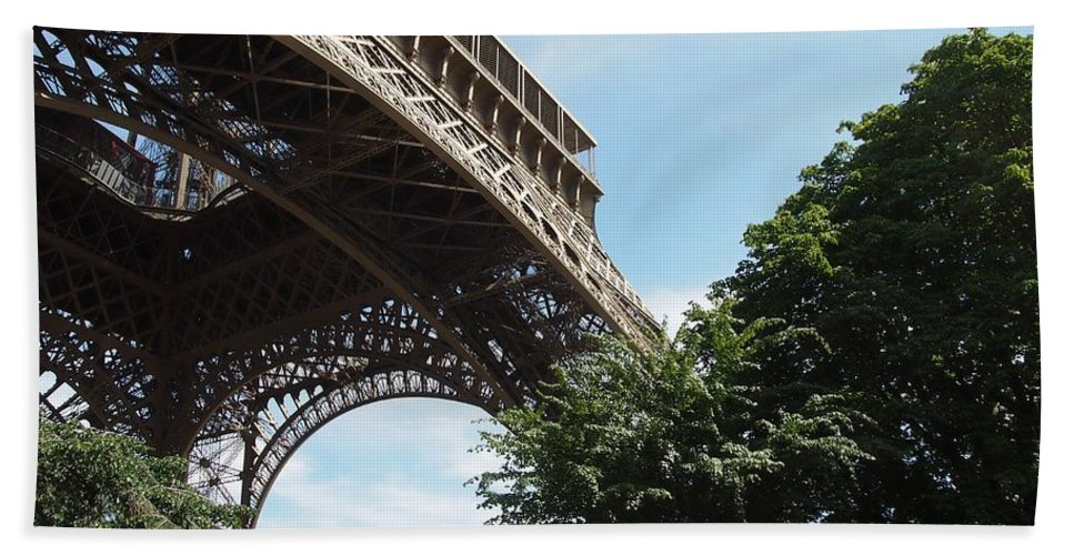 Europe Hand Towel featuring the photograph Eiffel Tower by FL collection