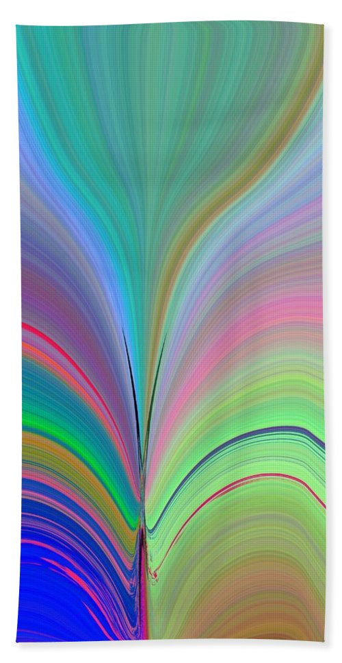 Flower Bath Towel featuring the digital art Elation by Tim Allen