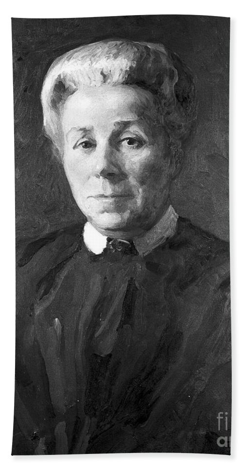 Historic Hand Towel featuring the photograph Elizabeth Garrett Anderson, English by Wellcome Images