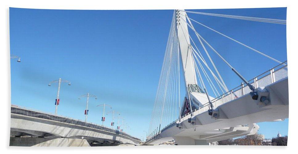 Bridge Bath Sheet featuring the photograph Esplanade Riel by Ruth Kamenev