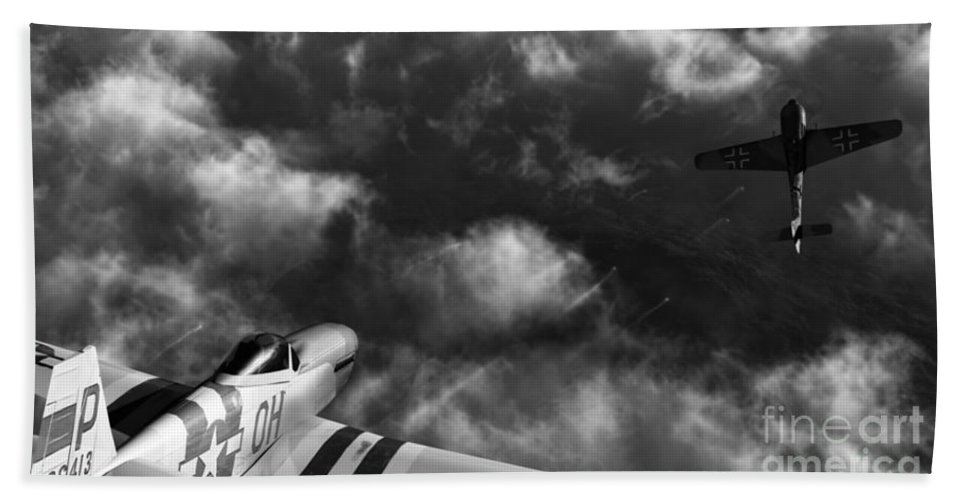 Warbirds Hand Towel featuring the digital art Evade by Richard Rizzo