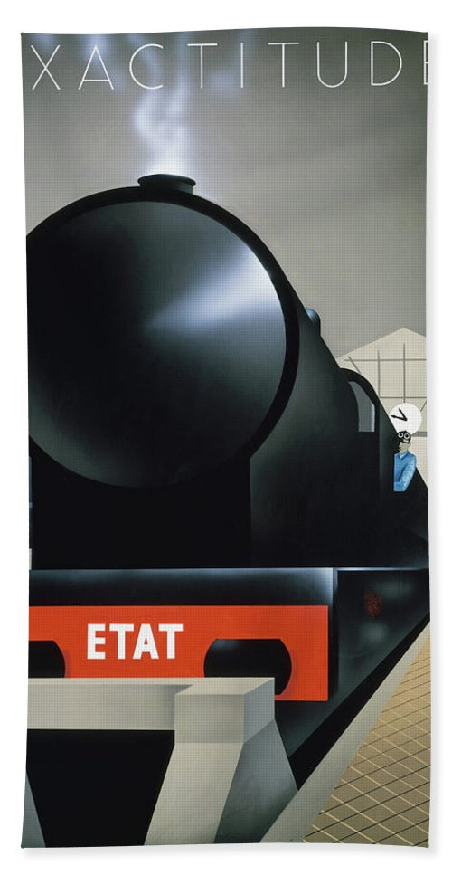 Pierre Fix-masseau Bath Sheet featuring the painting Exactitude by Pierre Fix Masseau