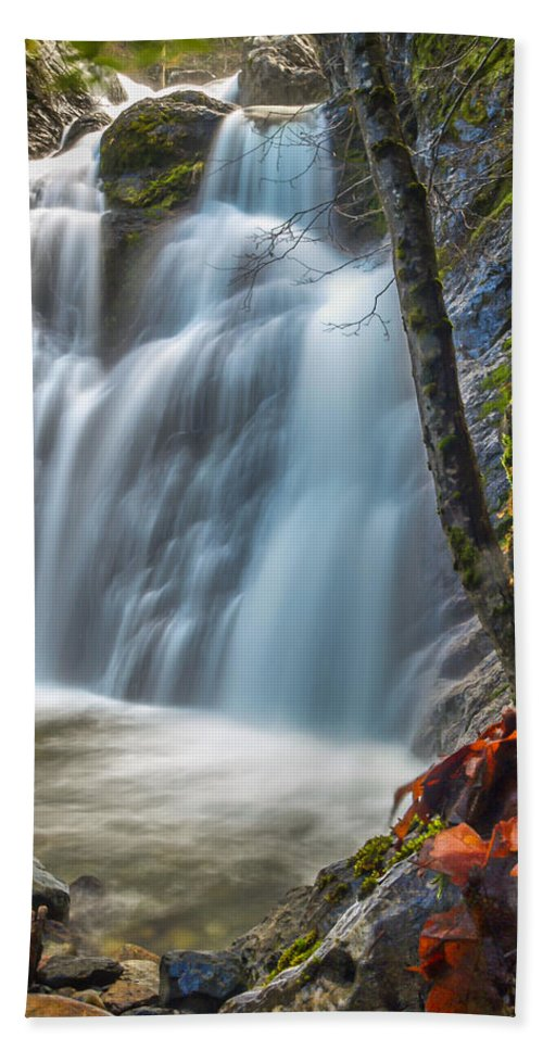 Fairy Falls Hand Towel featuring the photograph Fairy Falls by Michele James