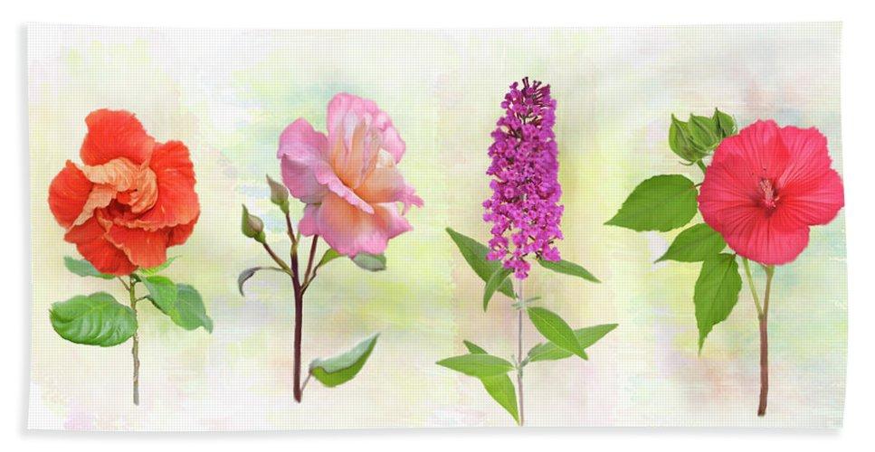 Flower Hand Towel featuring the digital art Flower Background by Svetlana Foote