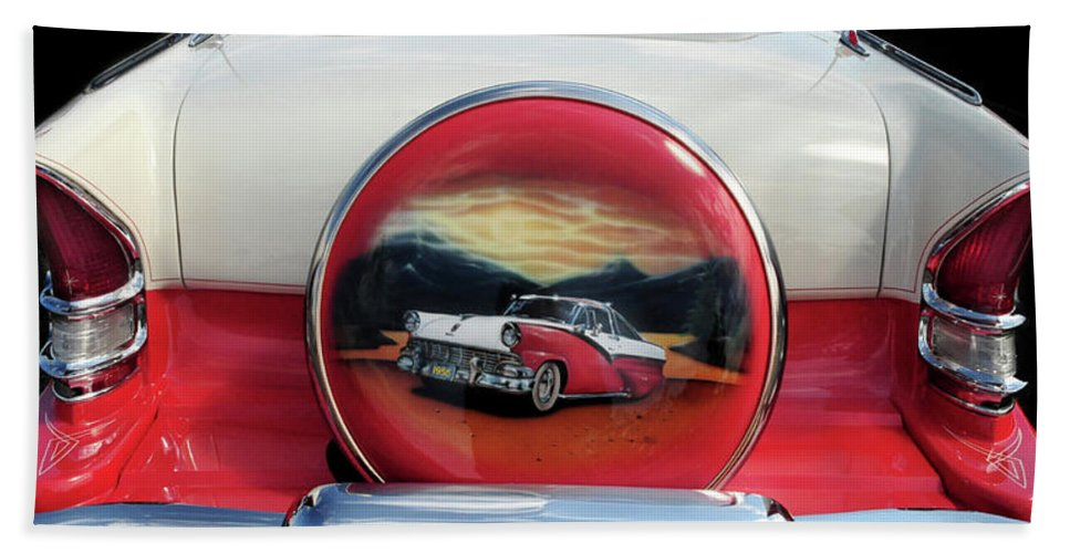 Ford Bath Sheet featuring the photograph Ford Fairlane Rear by Dave Mills
