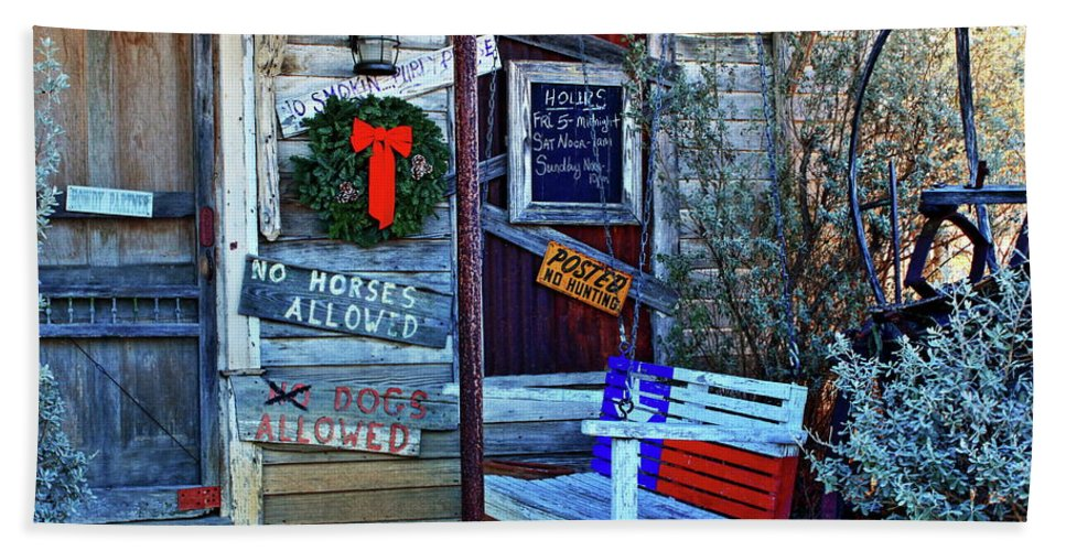 Saloon Hand Towel featuring the photograph Front Porch by Daniel Koglin