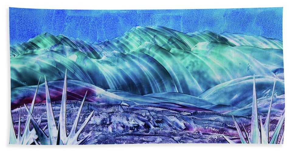 Encaustic Bath Towel featuring the painting Gallup by Melinda Etzold