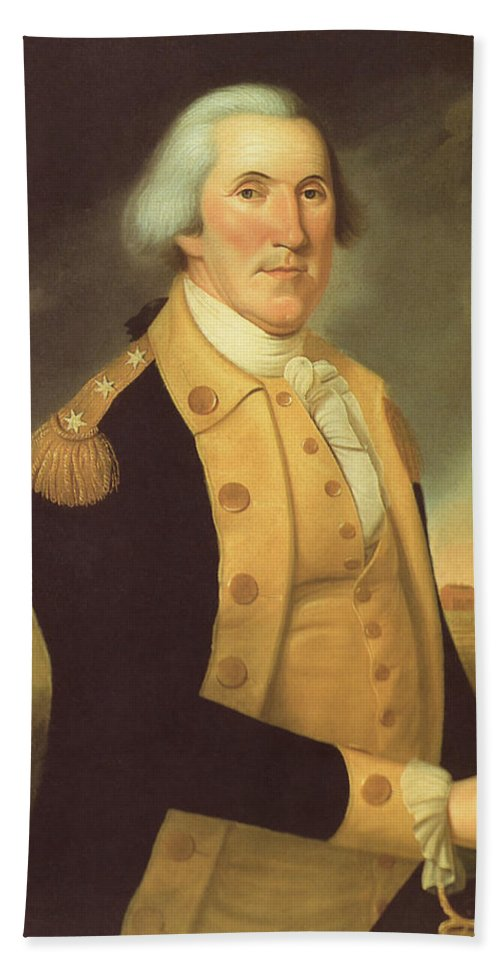 George Washington Bath Sheet featuring the painting General George Washington by War Is Hell Store