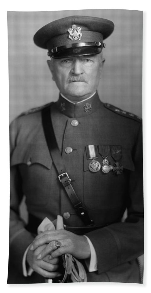 General Pershing Bath Towel featuring the photograph General John Pershing by War Is Hell Store