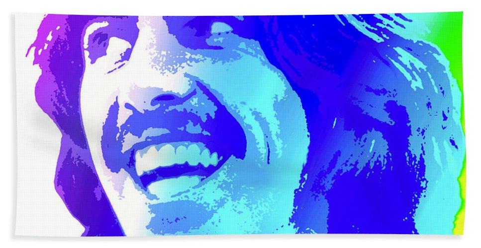 George Harrison Bath Towel featuring the digital art George Harrison by Greg Joens