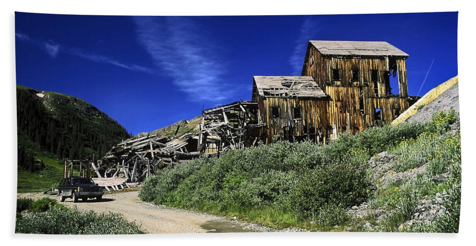 Ghost Town Hand Towel featuring the photograph Ghost Town by Sally Weigand
