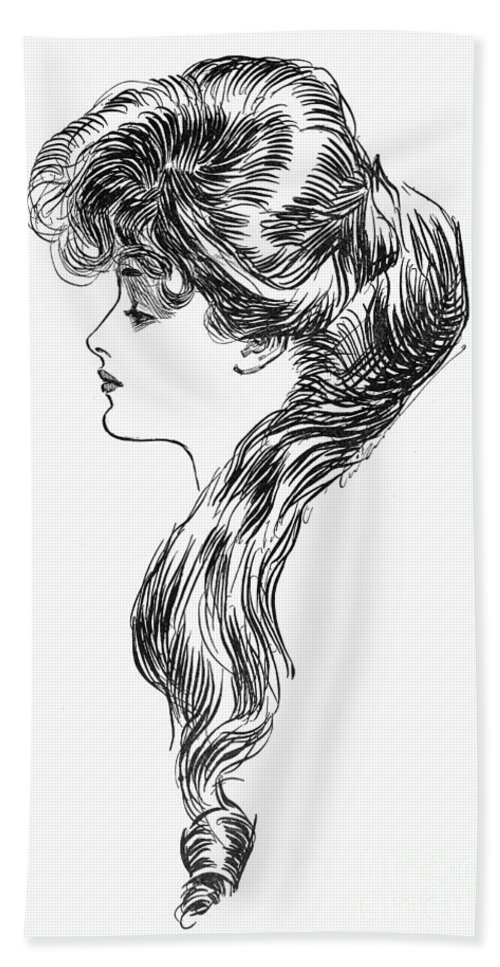 1903 Hand Towel featuring the photograph Gibson Girl, 1903 by Granger