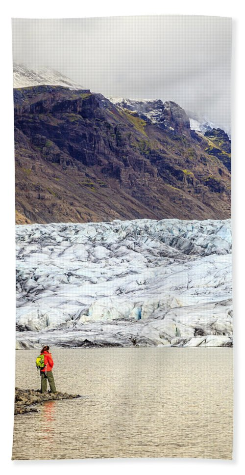 Europe Hand Towel featuring the photograph Glacier Lagoon by Alexey Stiop