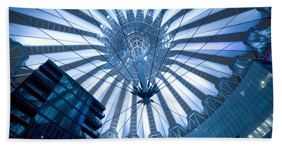 Architecture Bath Sheet featuring the photograph Glass Sky by Pierre Logwin