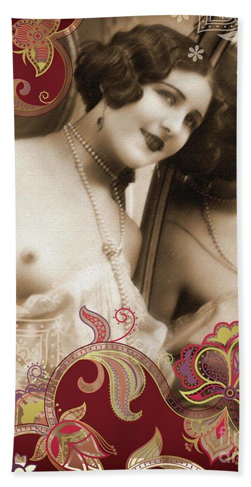Nostalgic Seduction Bath Sheet featuring the photograph Goddess by Chris Andruskiewicz
