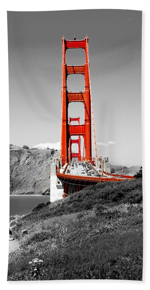 City Bath Towel featuring the photograph Golden Gate by Greg Fortier
