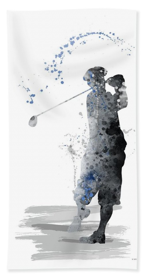 Sport Hand Towel featuring the digital art Golfer by Marlene Watson