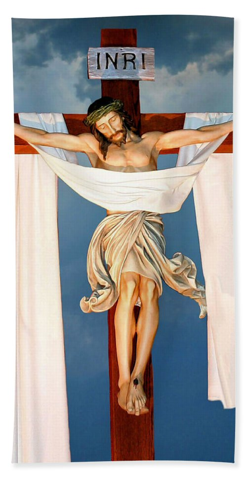 Jesus Hand Towel featuring the photograph Good Friday by Kristin Elmquist