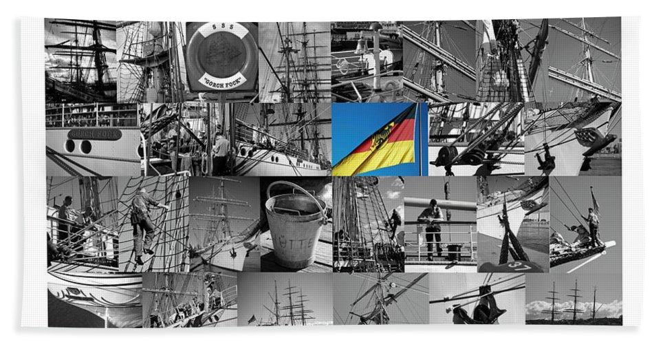 Gorch Fock Hand Towel featuring the photograph Gorch Fock 1958 by Juergen Weiss
