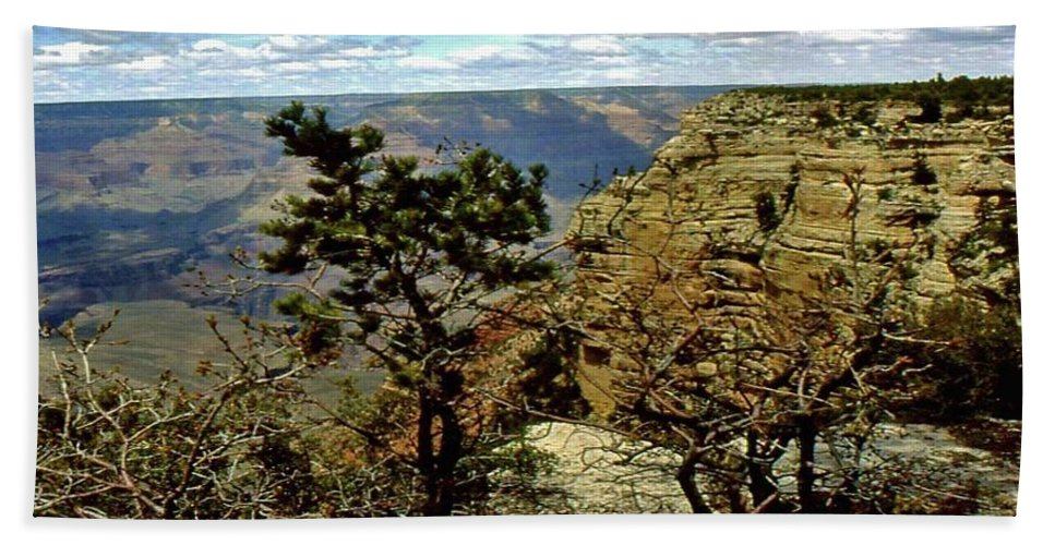 Grand Canyon Bath Sheet featuring the photograph Grand Canyon by Gary Wonning