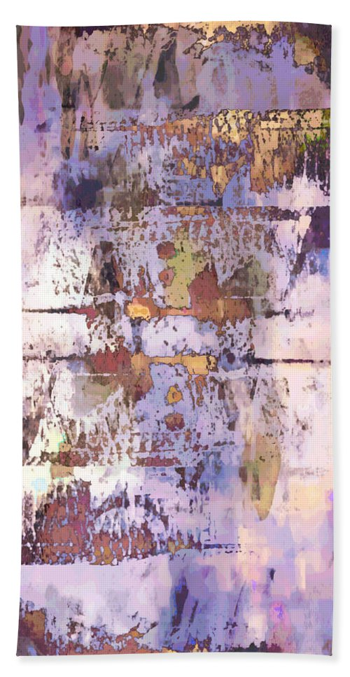 Abstract Bath Sheet featuring the photograph Grungy Abstract by Tom Gowanlock