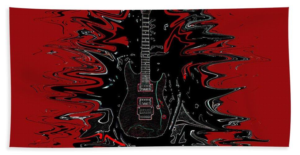 Guitar Digital Art Music Hand Towel featuring the digital art Guitar Of Wonder by Daniel Gray