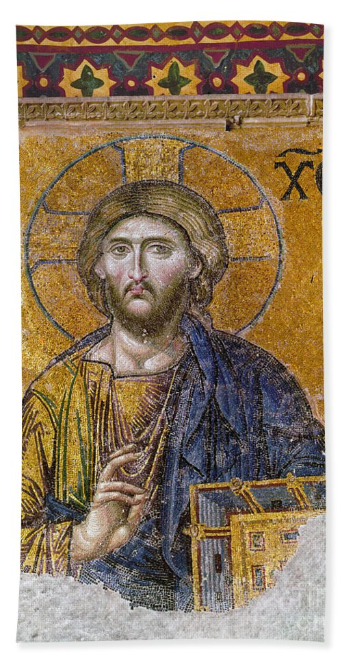 13th Century Hand Towel featuring the photograph Hagia Sophia: Mosaic by Granger
