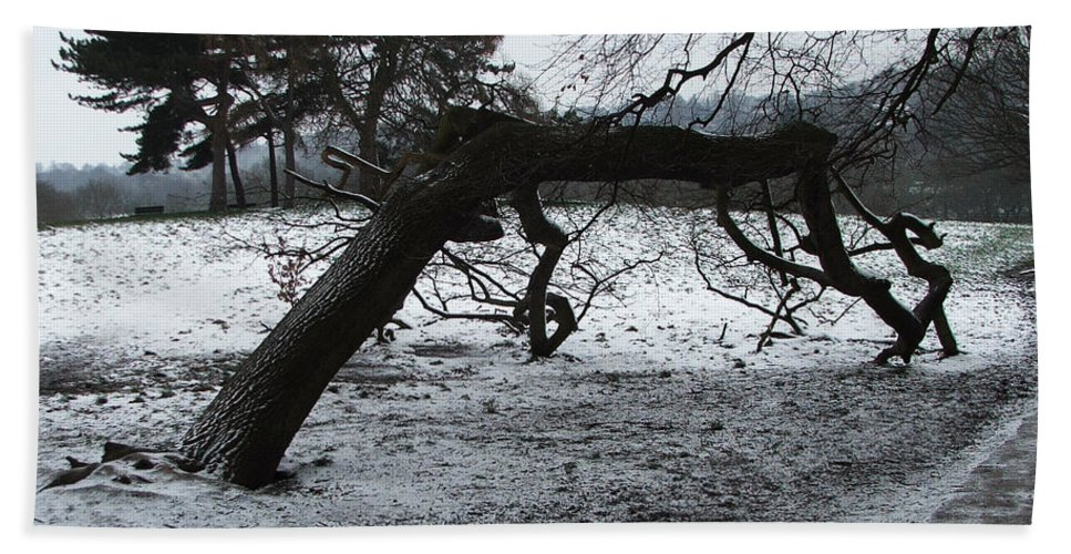 Winter Hand Towel featuring the photograph Hampstead Heath, London by Heather Lennox
