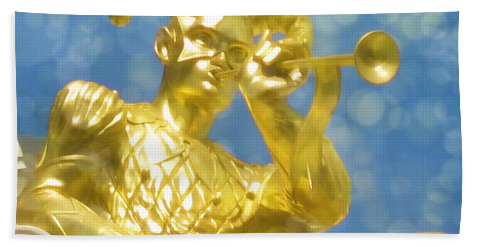 Gold Bath Sheet featuring the photograph Harlequin by JAMART Photography