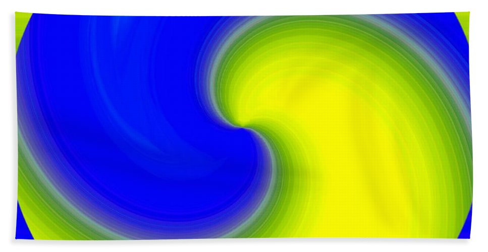 Abstract Hand Towel featuring the digital art Harmony 22 by Will Borden