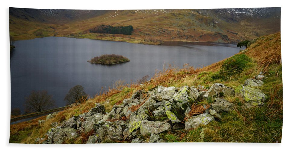 Cumbria Hand Towel featuring the photograph Haweswater by Smart Aviation