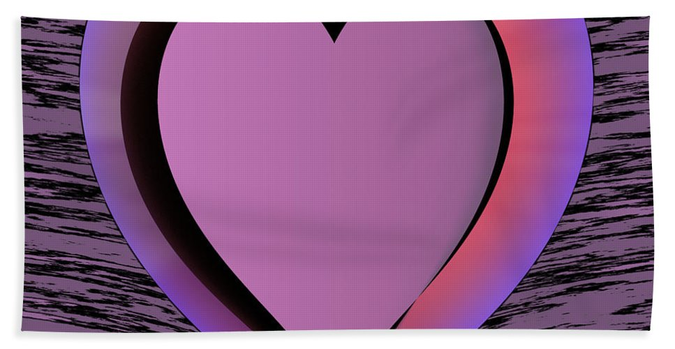 Heart Hand Towel featuring the digital art Heart Shape by Miroslav Nemecek