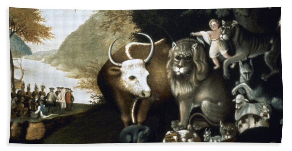 1840 Bath Sheet featuring the photograph Hicks: Peaceable Kingdom by Granger