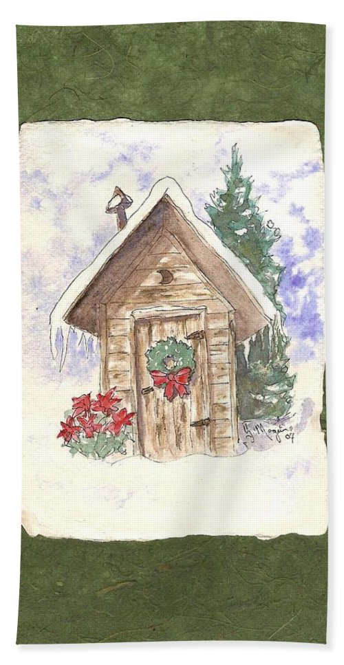 Back House Bath Sheet featuring the painting Holiday Best by Gail Maguire