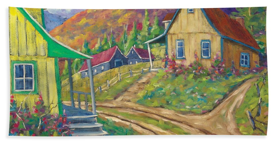 Art Bath Towel featuring the painting House Of Louis by Richard T Pranke