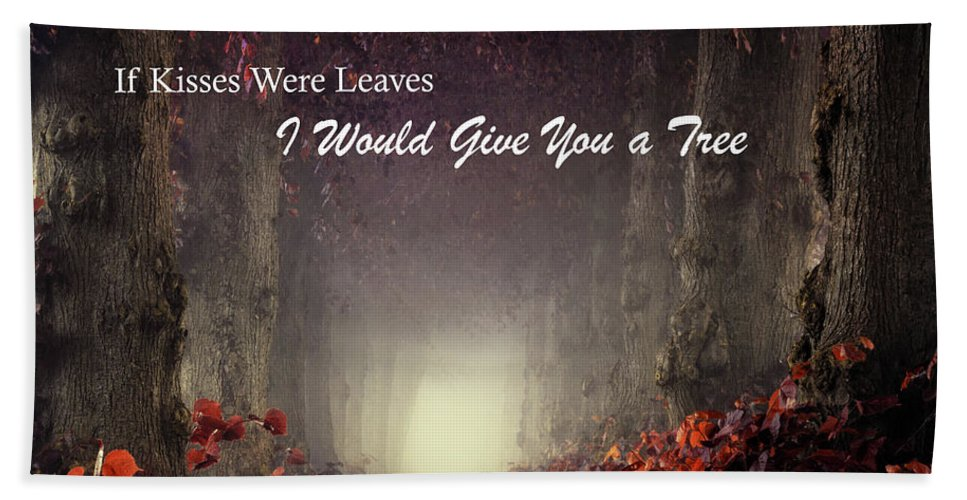 Hand Towel featuring the photograph If Kisses Were Leaves, I'd Give You A Tree by Martin Podt