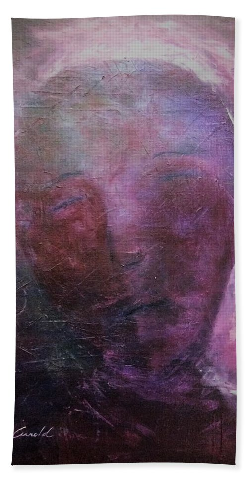 Spiritual Bath Sheet featuring the painting In Human Form by Tara Arnold