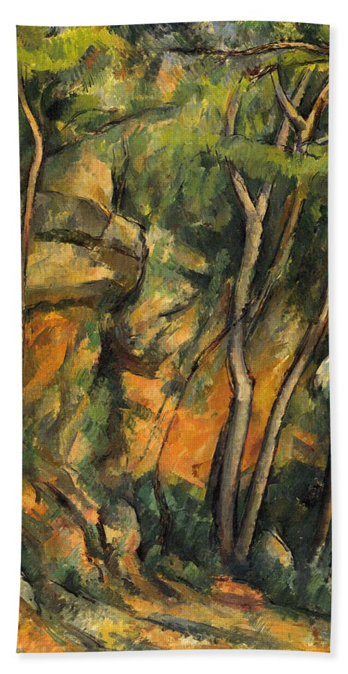 Europe Hand Towel featuring the painting In The Park Of Chateau Noir by Paul Cezanne