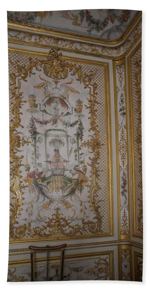 Castle Bath Sheet featuring the digital art Inside Chantilly Castle France by Carol Ailles