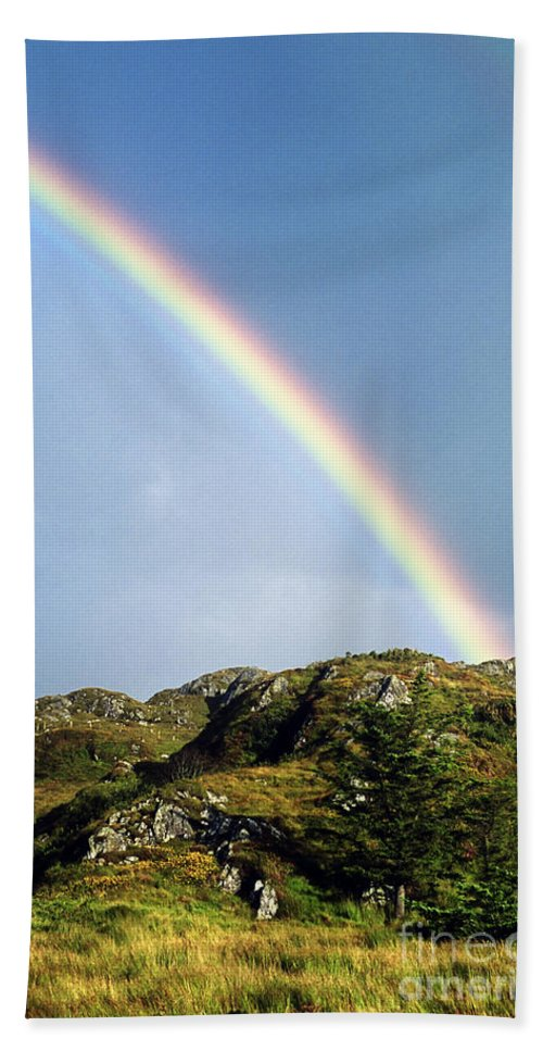 Rainbow Bath Towel featuring the photograph Irish Rainbow by John Greim
